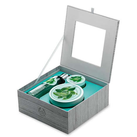 Green Tea Bath Sets - This Body Shop Beauty Gift Set Contains Products From the Fuji Green Tea Range