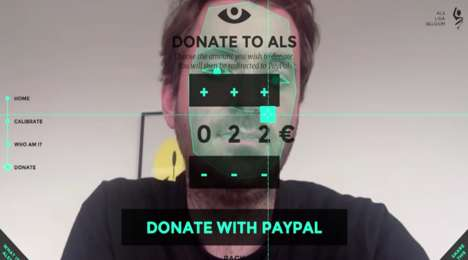 Eye-Tracking Donation Sites - Eye Click Donation Only Lets People Donate to ALS Using Their Eyes