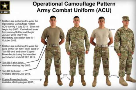 Re-Designed Army Uniforms - The Operational Camouflage Pattern Hopes to Make Soldiers More Invisible