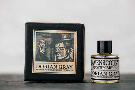 Literary Perfume Branding - Etsy's Ravenscourt Apothecary Shop Features Book Character Scents