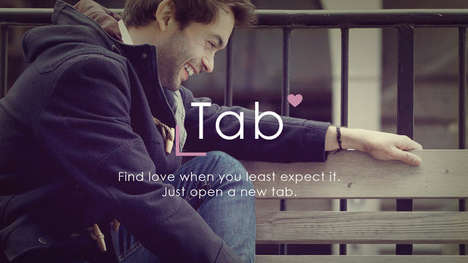 Serendipitous Dating Services - 'Tab' is a Dating Tool That Matches Up Users Entirely at Random