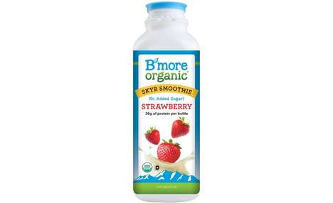 Protein-Packed Smoothies - B'More Organics' Strawberry Protein Smoothie is Made with Skyr