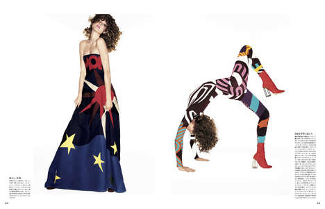 Opulent Cartoonish Editorials - The Vogue Japan Happiness is Color and Form Photoshoot is Animated