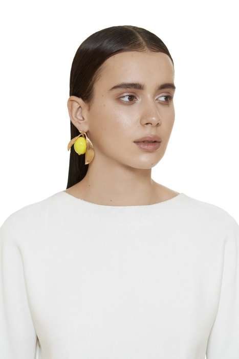 Tropical Fruit Accessories - These Lemon Earrings by ANDRESGALLARDO Celebrate Summer