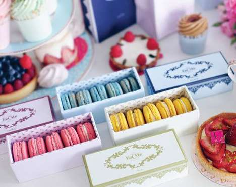 Carton Pastry Packaging - These Folding Boxes are the Perfect Package for Delicate Macaroons