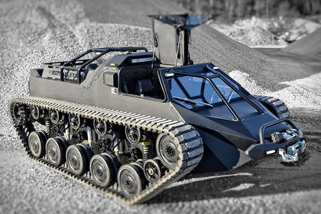Personalized Luxury Tanks - The Ripsaw Ev2 Tank Mixes Elegant Luxury with Military Power