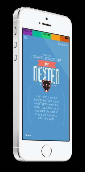 Feline Horoscope Apps - The New 'Zodiacat' App Provides Personal Kitty Zodiac Readings