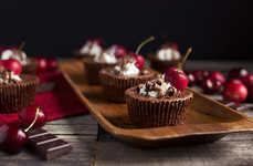 Vegan Chocolate Desserts - The Black Forest Flavored Grain-Free Tarts Adhere to Dietary Restrictions