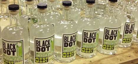 Vapor-Infused Liquors - The New Craft Gin from 'Black Dot Spirits' is Made from Corn and Botanicals