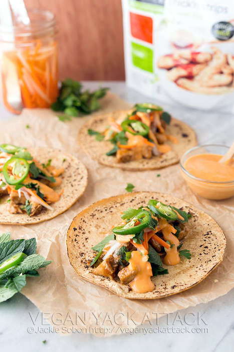 Vegan Chicken Tacos - Spicy Teriyaki Chick'n Tacos Offer a Plethora of Protein without Meat