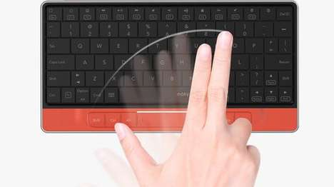 Bluetooth Trackpad Keyboards - The Moky Keyboard Can Also Function As a Trackpad
