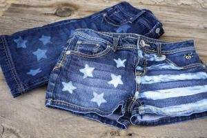 DIY Americana Apparel - The Goodwill Gal Bleach Gel Shorts Celebrate Nationalistic Pride Via Fashion