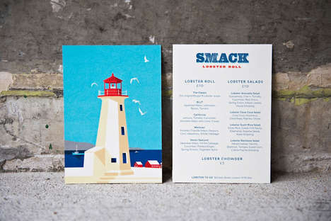 Seafood Diner Branding - Smack Lobster Roll Has a Visual Identity Inspired by Nova Scotia