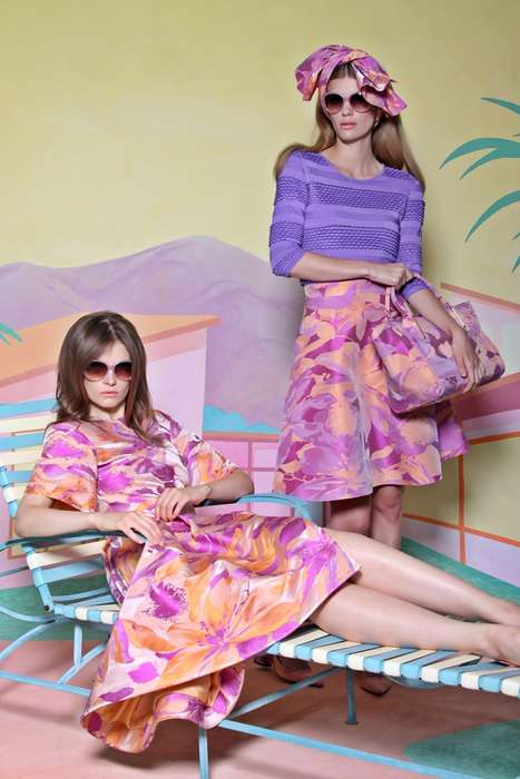 Retro Party-Worthy Fashion - The Christian Siriano Resort Collection Promotes 60s Holiday Style