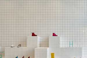 This Children's Shoe Store Features Graphical Tiled Displays
