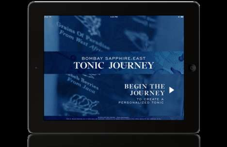 Custom Tonic Apps - Bombay Sapphire's 'Tonic Journey' Helps You Make Your Own Drink