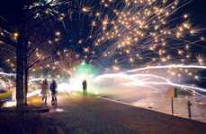 Misfired Firework Photography - Photographer Kimmo Kuloveski Captured Bursts of Accidental Light