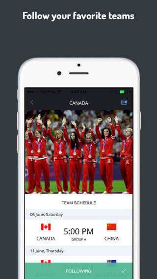Female Sport-Tracking Apps - 'Beautiful Game' Helps to Track the Women's FIFA World Cup Matches