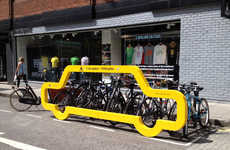 Driver-Shaming Bike Racks - Cyclehoop's City Bike Rack Demonstrates How Much Space a Car Occupies