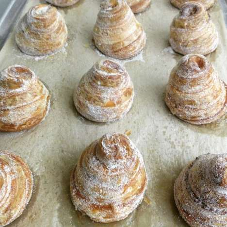 Sugary Brioche Cronuts - The Brioche Feuilletée or 'Bronut' is the Latest Flaky Hybrid Pastry
