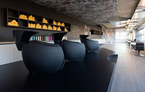 Monochrome Salon Interiors - This Understated Salon is Located in the Swiss Town of Laufen