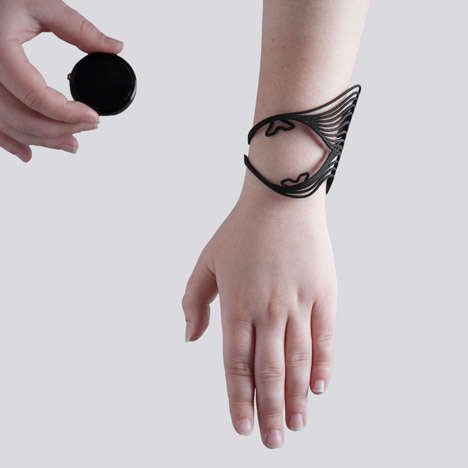 Projection Mapped Jewelry - Tactum by MadLab Uses Interactive Projections to Design Bracelets