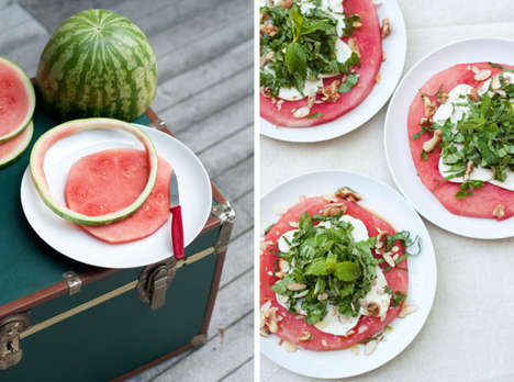 Watermelon Salad Recipes - This Light and Refreshing Summer Salad Uses Mozzarella and Watermelon