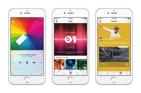 Tech Giant Streaming Services - Apple Music Positions Itself Against Companies Like Spotify