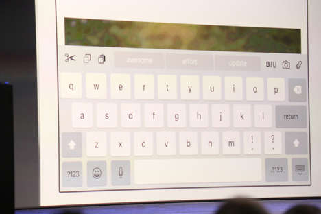 Updated Tablet Keyboards - Apple QuickType Can Now Transform into a Trackpad