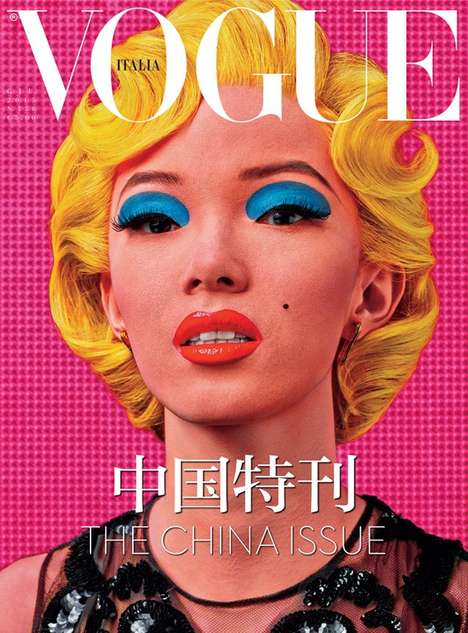 Chromatic Pop Art Covers - The Vogue Italia China Issue Boasts a Eye-Catching Collector's Cover