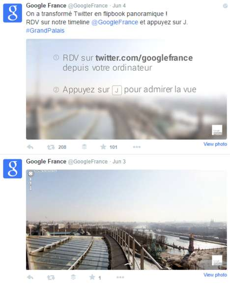 Social Flip Books - Google France's Twitter Account Doubles as an Interactive Social Media Flip Book