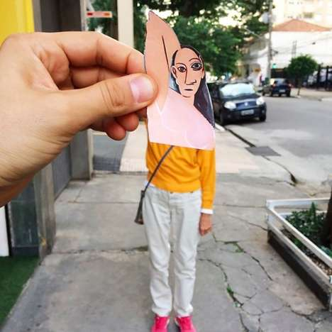 Clever Air Collages - Lorenzo Castellini Places Classic Painting Cutouts in Contemporary Settings