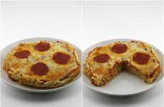 Spaghetti Pizza Crusts - Two Popular Italian Dishes Were Combine to Make a Pasta Pizza Crust