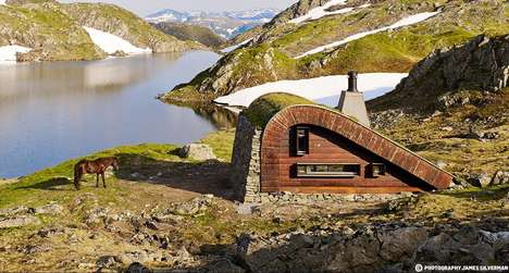 Hidden Hunting Cabins - This Isolated Hunting Cabin Naturally Blends into Its Surroundings