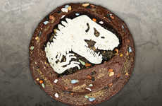 Dinosaur Fossil Cakes - This Jurassic Park-Inspired Cake is Perfect for a Pre-Movie Snack