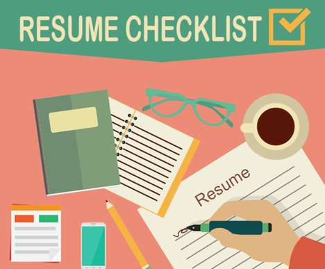 Resume Writing Guides - This Resume Checklist and Infographic Covers the Important Parts to Include
