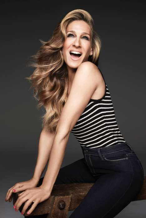 Playful Denim Campaigns - Sarah Jessica Parker is Tapped as the Face of Jordache Jeans