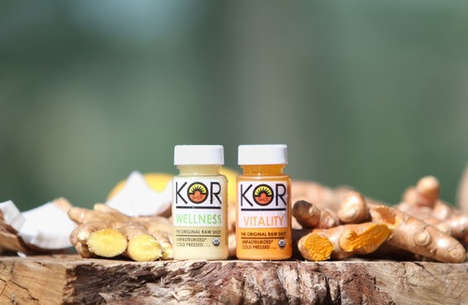 Cold-Pressed Energy Shots - The New 'Wellness Shots' from 'Kor Raw' Pack an Instant Energy Boost