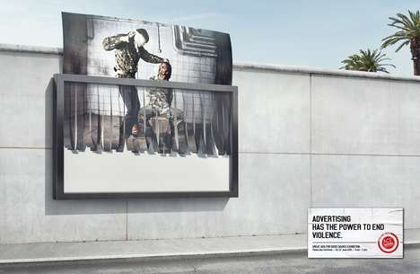 Shredding Billboard Campaigns - Act Responsible Promotes Its 'Great Ads for Good Causes' Exhibit
