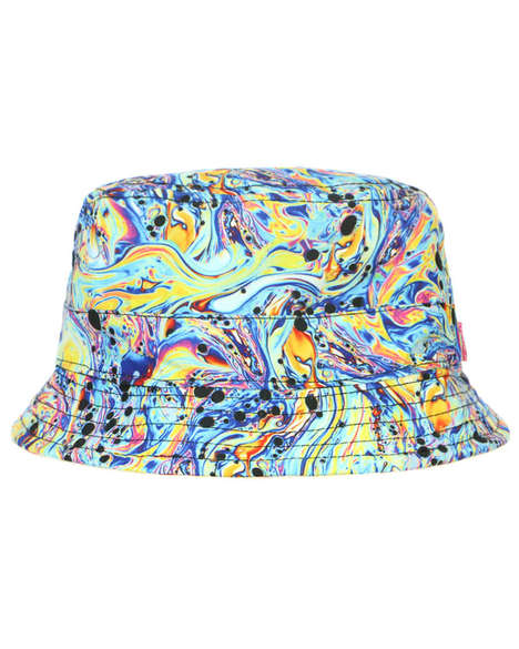 Psychedelic Bucket Hats - Mishka's Oil Spill Print Hat is Vibrantly Printed and Reversible