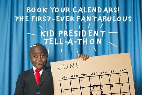 Local Hunger Tell-A-Thons - Kid President's Child Hunger Campaign Wants to Start a Conversation