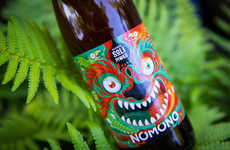 Monstrous Beer Labels - 'Nomono' Uses a Dragon Beer Label to Represent its Brand