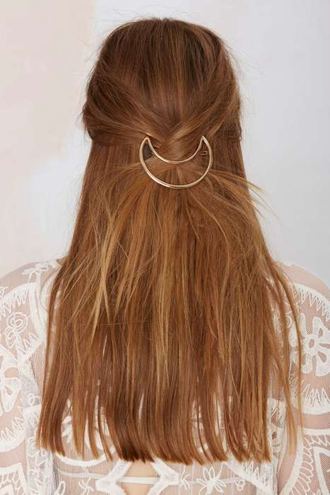 Astrological Hair Clips - Nasty Gal's Moon-Shaped Barette is Mystically Elegant