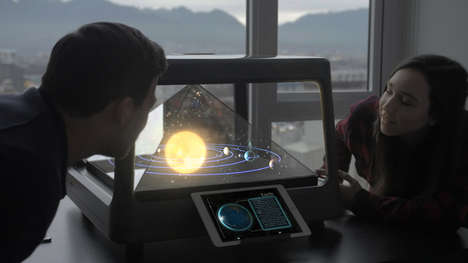 Tabletop Holographic Projectors - Holus Presents 2D Content in a Dynamic 3D Way Groups Can Enjoy
