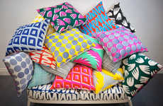 Hand-Printed Pillows