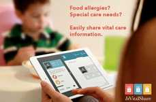 Allergy-Alerting Apps - The 'Invitalshare' App Helps Parents Share Food Allergies with Caregivers