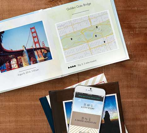 Travel Book-Making Apps - The 'Trippix' App Easily Turns Travel Pictures into Custom Photo Books