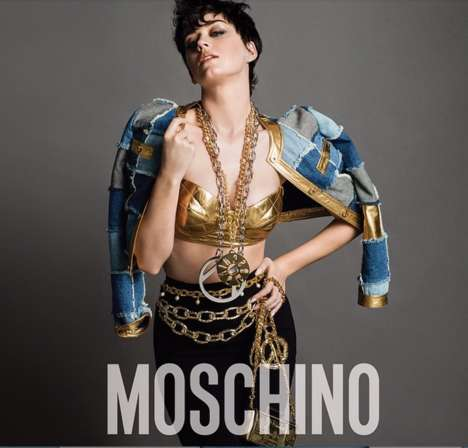 Urban Glam Fashion Ads - The Katy Perry Moschino Campaign Shows Off Her Pixie Haircut