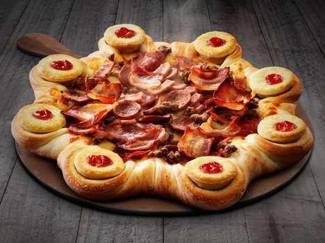 Meat Pie Crusts - Pizza Hut is Offering Very Cheeky Meat Pie Stuffed Crust Pizza with Four'N Twenty