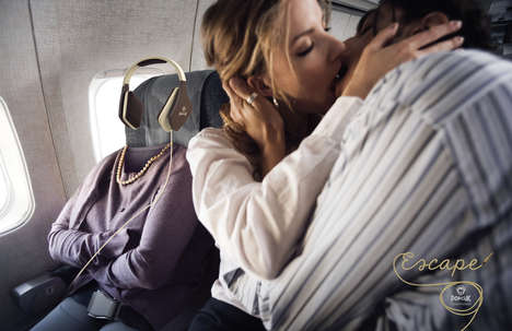 Invisible People Ads - The PopClik Headphones Campaign Helps Listeners Escape Boring Events